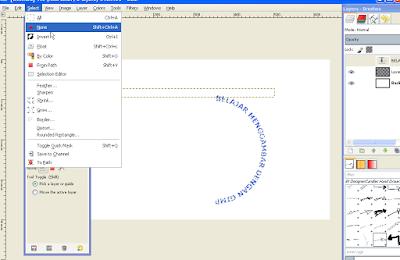 Cara Memutar Teks Melengkung di GIMP5