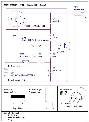 Rangkaian Penambah Watt Listrik : rangkaian, penambah, listrik, Bagan, Skema, Rangkaian, Elektronika, Sirine, Mobil