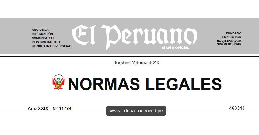 D. S. Nº 004-2012-SA - Aprueban Reglamento de la Ley Nº 28561, Ley ...