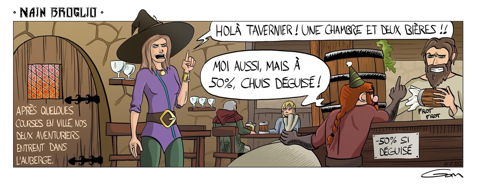 Nain Broglio auberge tavernier