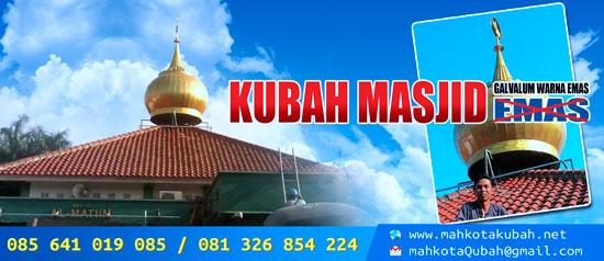 Kubah Masjid Warna Emas