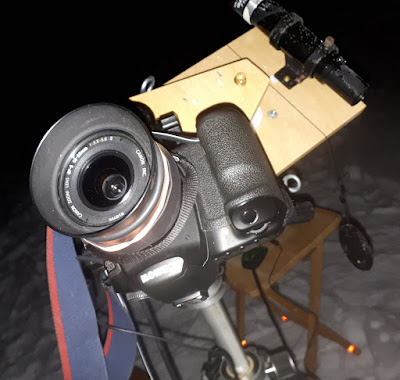 camera upside-down on barn door tracker
