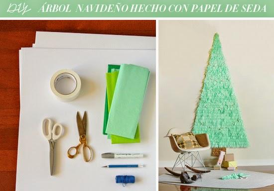 DIY Árbol de navidad con papel seda cartulina1