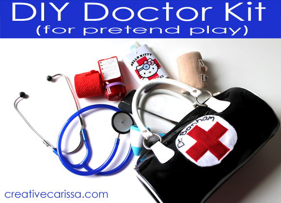 DIY Doctor Kit for pretend play
