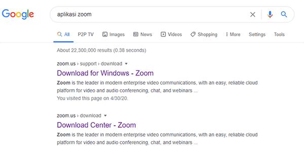 cara download aplikasi zoom untuk pc