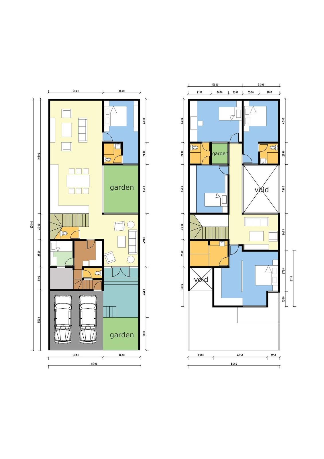 Desain Rumah Memanjang : desain, rumah, memanjang, Desain, Rumah, Memanjang, Belakang, Minimalis, Sederhana