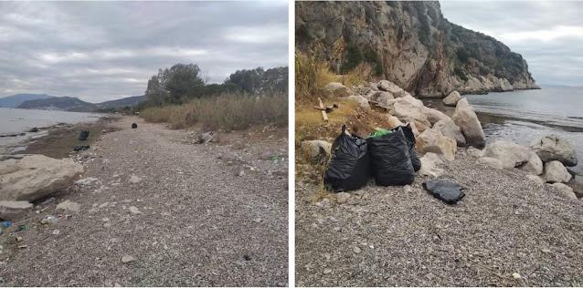 Δήμος Ναυπλιέων: Δράση καθαριότητας στην παραλία της Πλάκας Δρεπάνου
