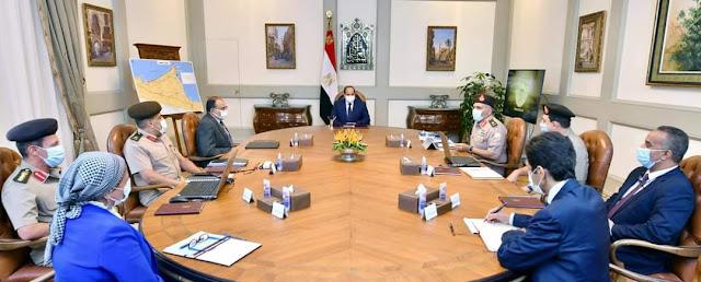 السيسي  يوجه بأن تتسم التصميمات الهندسية والفنية الداخلية لمجلسي النواب والشيوخ بالعاصمة الادارية الجديدة بالعراقة والإرث الحضاري لمصر