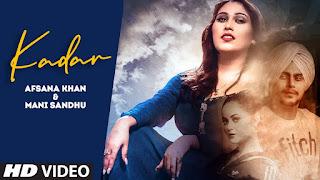 Kadar Lyrics Afsana Khan x Mani Sandhu