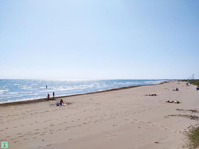 Playa de la Marquesa en el Delta del Ebro
