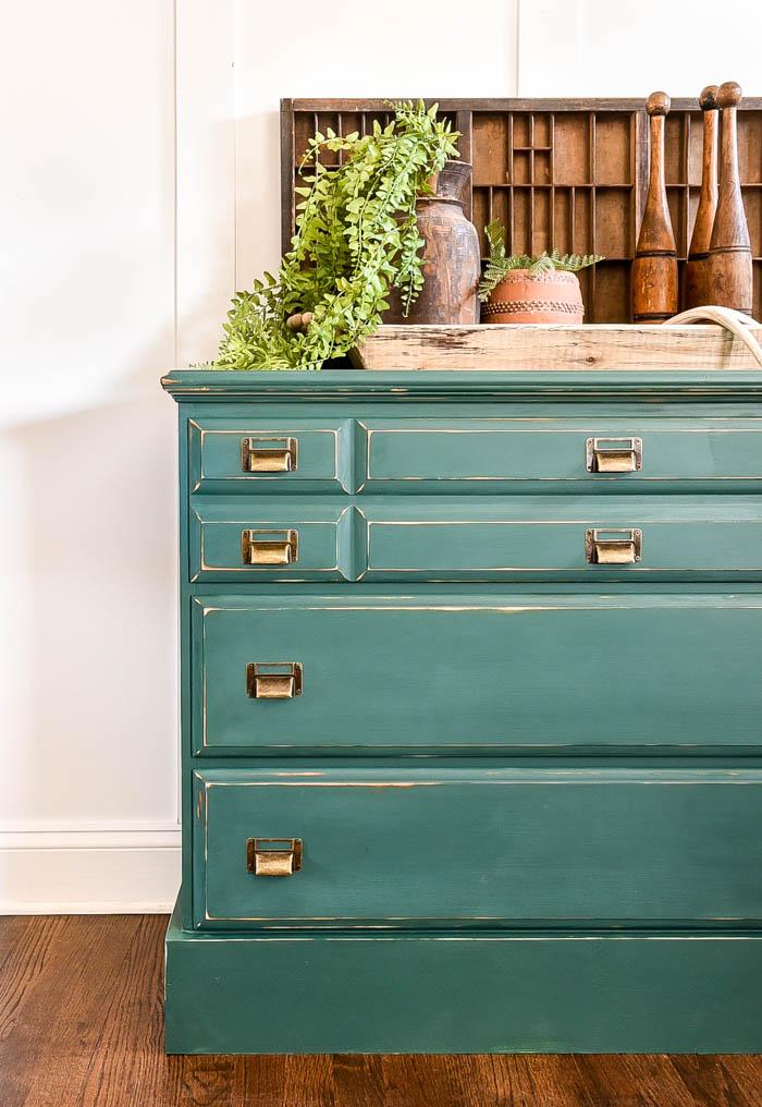 Dated dresser turned vintage boho chest