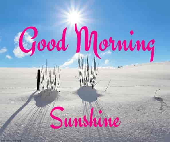 good morning sunshine with shining white desert