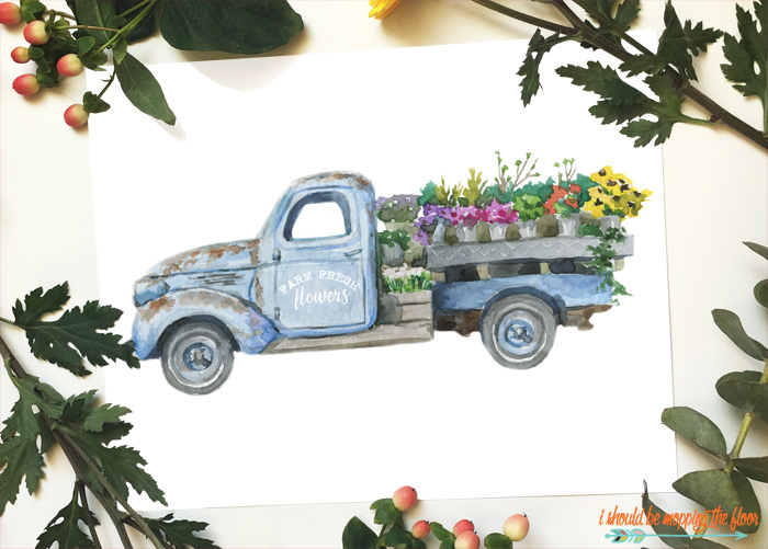 Floral Truck Printables