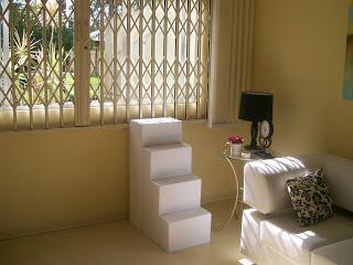 escadas para visualizar janelas