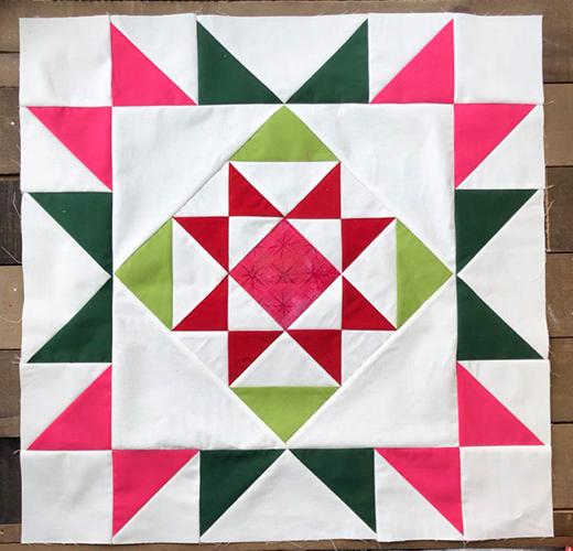 Reindeer Tracks Quilt Block designed by Jessica Dayon for Moda bake shop