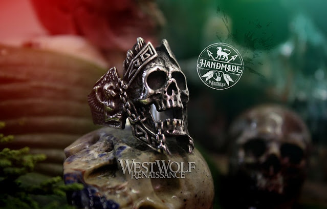 Viking Draugr Skull Ring