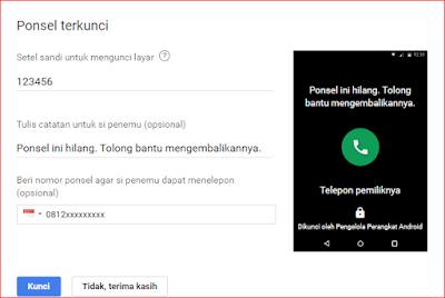 Opsi Mode Lock Untuk Mengamankan HP / Smartphone