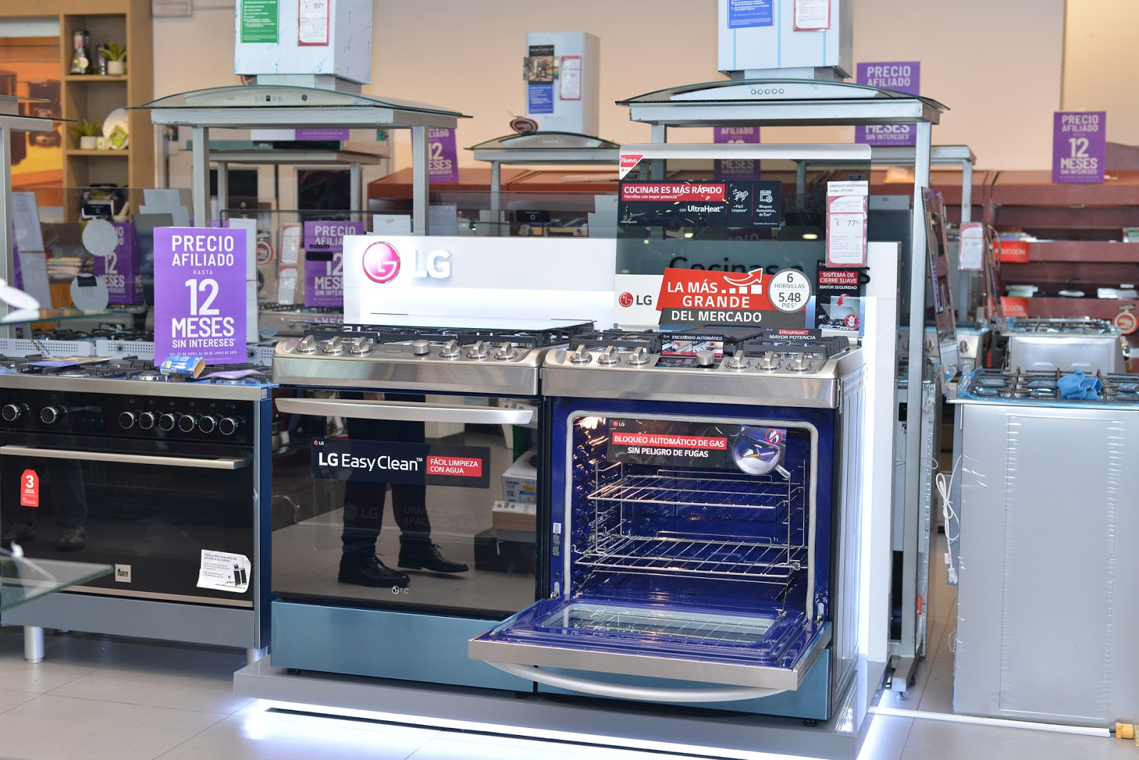 LG presentó las nuevas cocinas a gas para un cocinado rápido y sencillo