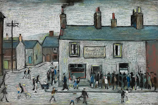 L.S. Lowry, 1948. Cowles Fish And Chip Shop. Cleator Moor.
