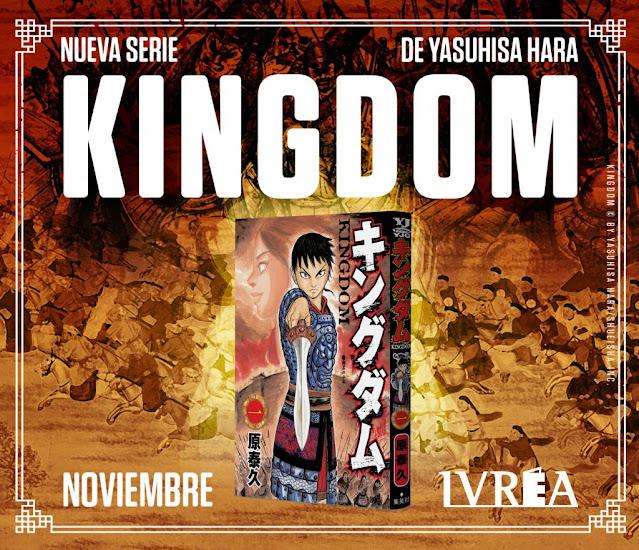 Ivrea publicará KINGDOM de Yasuhisa Hara.