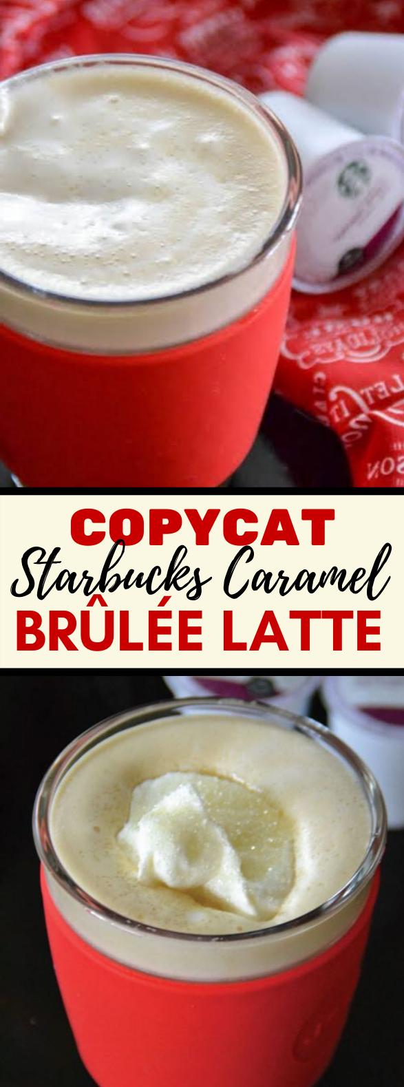COPYCAT STARBUCKS CARAMEL BRÛLÉE LATTE RECIPE #drinks #holidaydrink
