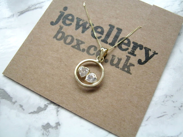 Jewellery Box Gold Crystal Necklace