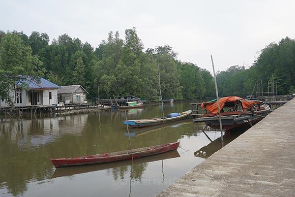 Pemandangan Desa Dabong kecamatan kubu kabupaten kubu raya