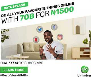How to activate Glo 1500 for 7gb Valid for 7days