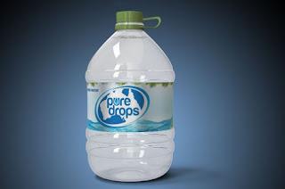 Mockup botol air galon psd gratis - kanamu