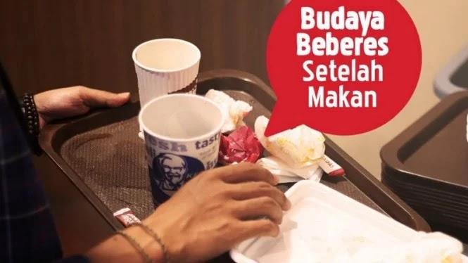 Netizen Indonesia Ribut Gara-gara Ajakan Beberes Setelah Makan