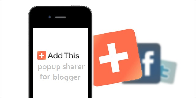 Pop-up Social Sharer Widget For Blogger