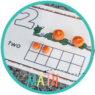 pumpkin playdough counting mat