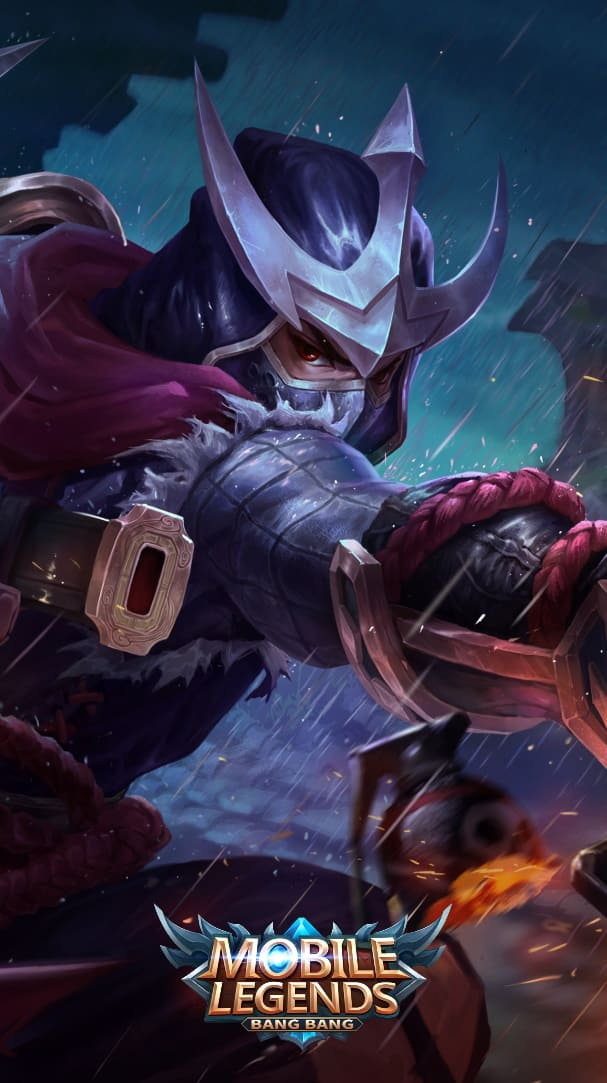 Wallpaper Hayabusa Crimson Shadow Skin Mobile Legends HD for Android and iOS