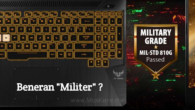 Laptop bersertifikasi MIL-STD-810