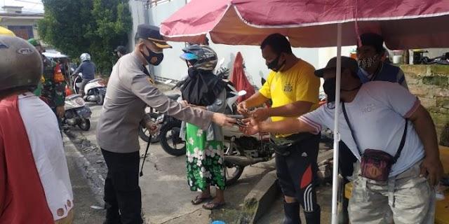 Kapolres Bersama Dandim Tegak Prokes ke Daerah Pasar