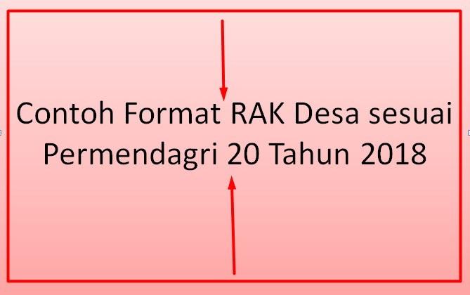 Contoh Format RAK Desa sesuai Permendagri  Contoh Format RAK Desa sesuai Permendagri 20 Tahun 2018