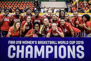USA is U19 Women Basketball World Cup 2019 winners team to beat Australia.