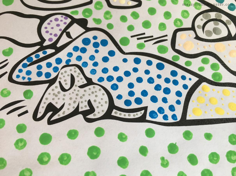 Bathers at Asnieres printable art project for kids