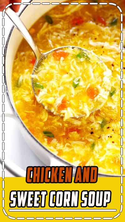 LOVE this cozy Chicken and Sweet Corn Soup recipe. It's basically an egg drop soup that's loaded up with chicken, corn and veggies. It's easy to make on the stovetop or in the Instant Pot. And it's sooo comforting and delicious. | Gimme Some Oven #eggdropsoup #chicken #soup #dinner #instantpot #healthy #glutenfree