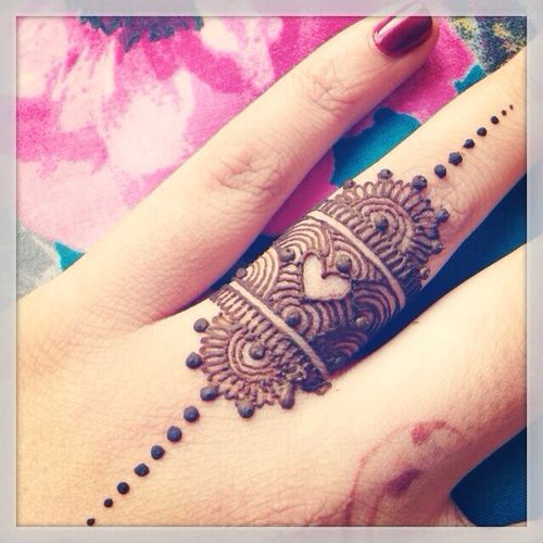 Beautiful Ring Mehndi Designs For Fingers