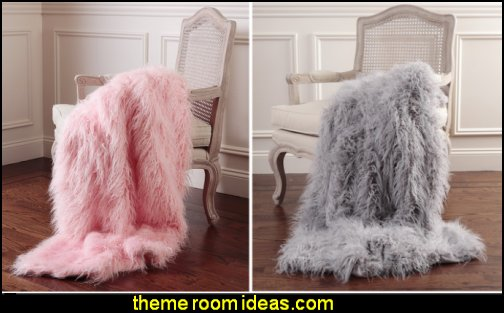Greta Throw faux fur fuzzy furry home decor