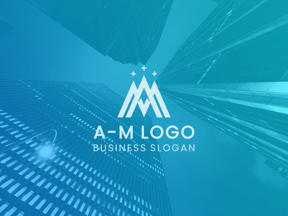 Free logo mountain peak overlay on colored background