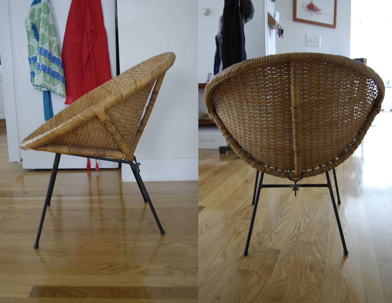 Round Wicker Chair Red Parsons Chairs Pieces Of Anna Bargain Hunting 1960 39s