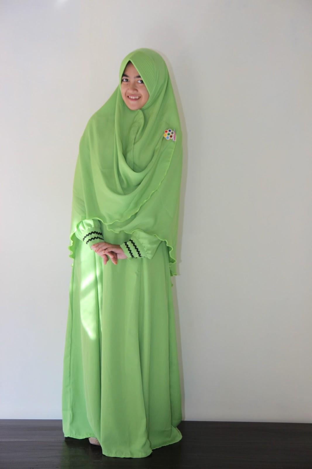 Baju Gamis Warna Hijau