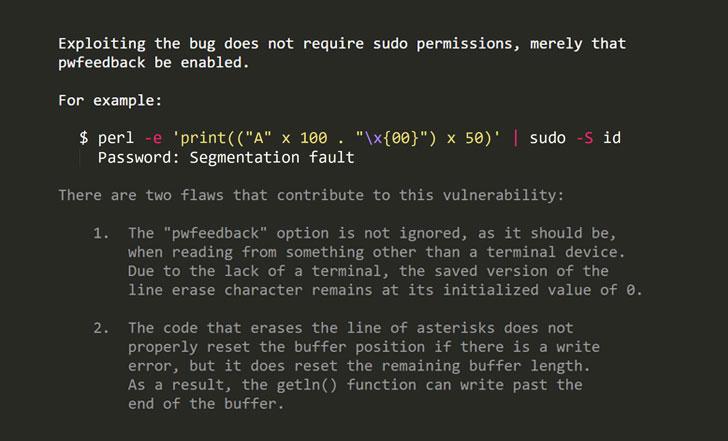 sudo linux vulnerability