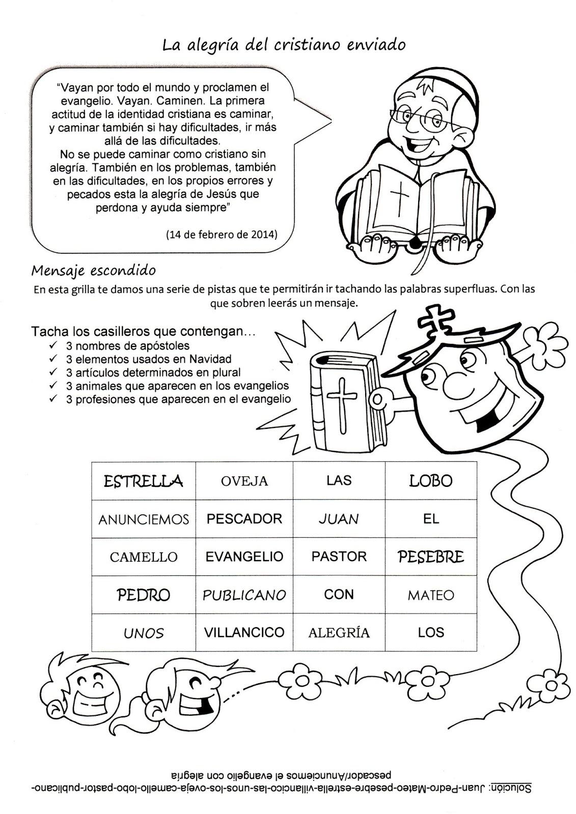 La Catequesis El Blog De Sandra Recursos Catequesis Del Papa Francisco