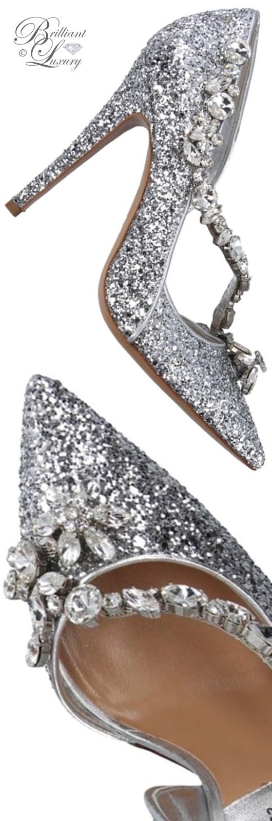 Brilliant Luxury ♦ Dsquared2 silver glitter pumps