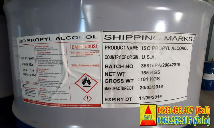 Isopropyl Alcohol | Dung môi IPA | Sơn bề mặt, chất tẩy rửa...