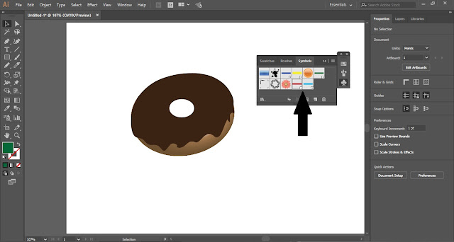 Create a Doughnut with 3D effect in Adobe Illustrator