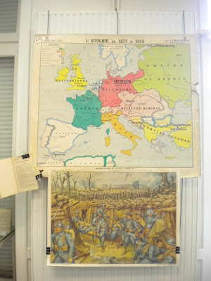 L'Europe avant 1914 et une tranchée à Verdun (panneau rossignol)